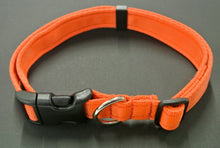 Load image into Gallery viewer, Adjustable dog collars small medium and large in orange