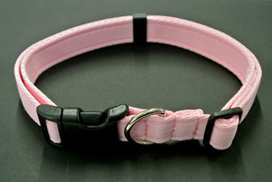 Adjustable dog collars small medium and large in baby pink