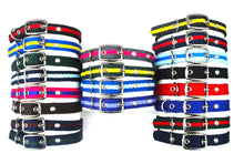 Load image into Gallery viewer, Adjustable Dog Puppy Collars 25mm Wide In Various Sizes And Colours