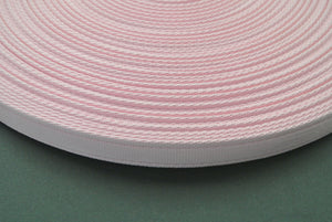 25mm Cushion Webbing In Various Lengths In Baby Pink