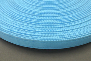 25mm Cushion Webbing In Various Lengths In Sky Blue
