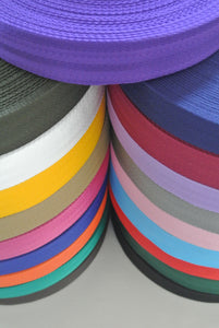 38/40mm Wide Herringbone Webbing In Various Colours