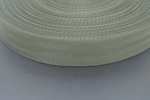 38/40mm Wide Herringbone Webbing In Olive Green