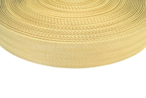 38/40mm Wide Herringbone Webbing In Beige