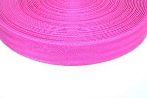 38/40mm Wide Herringbone Webbing In Cerise Pink