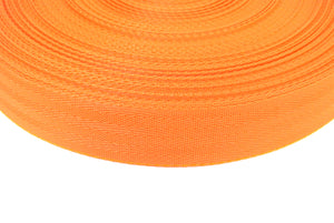 38/40mm Wide Herringbone Webbing In Orange