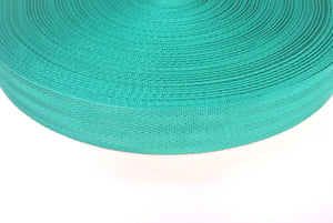 38/40mm Wide Herringbone Webbing In Emerald Green