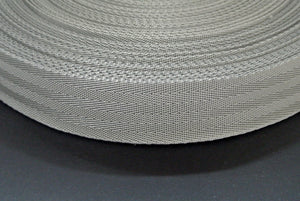 38/40mm Wide Herringbone Webbing In Silver/Grey