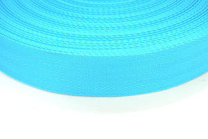 38/40mm Wide Herringbone Webbing In Sky Blue