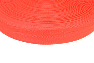 38/40mm Wide Herringbone Webbing In Red