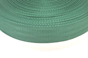 38/40mm Wide Herringbone Webbing In Forest Green