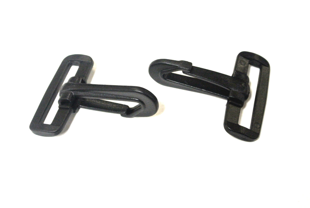 40mm Black Plastic Dog Clips Snap Clips For 40mm Webbing Straps Leads Bags x10 x25 x50 x100