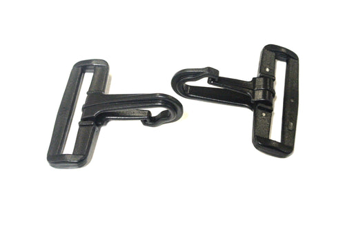 50mm Black Plastic Dog Clips Snap Clips For 50mm Webbing Straps Leads Bags x10 x25 x50 x100