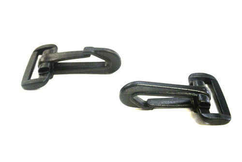 25mm Black Plastic Dog Clips Snap Clips For 25mm Webbing Straps Leads Bags x10 x25 x50 x100