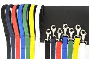 "45"" Short Dog Lead With Padded Handle In Various Colours"