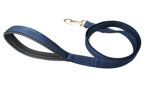 "45"" Short Dog Lead With Padded Handle In Navy"