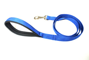 "45"" Short Dog Lead With Padded Handle In Royal Blue"
