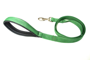 "45"" Short Dog Lead With Padded Handle In Green"