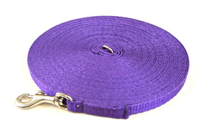 Dog and puppy training lead in 50ft purple