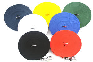 Dog training lead 100ft in various colours