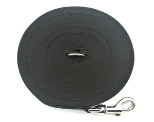 Dog training lead 50ft in black