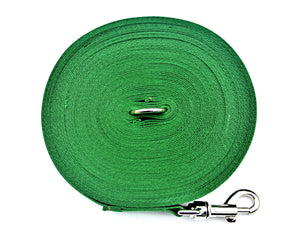 Dog training lead 50ft in green
