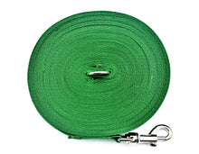 Load image into Gallery viewer, Dog training lead 100ft in green