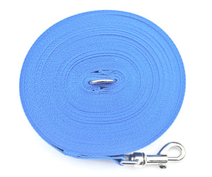 Dog training lead 100ft in royal blue