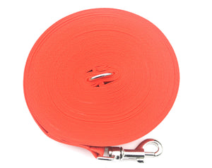 Dog training lead 50ft in red