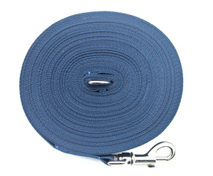 Dog training lead 100ft in navy