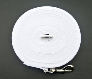 Dog training lead in white
