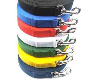 Dog training lead 15ft in various colours