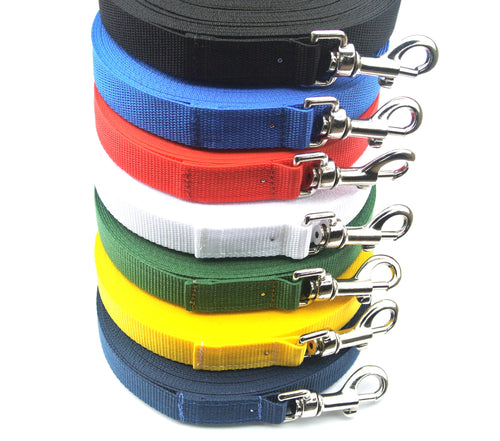 Dog training lead 10ft in various colours