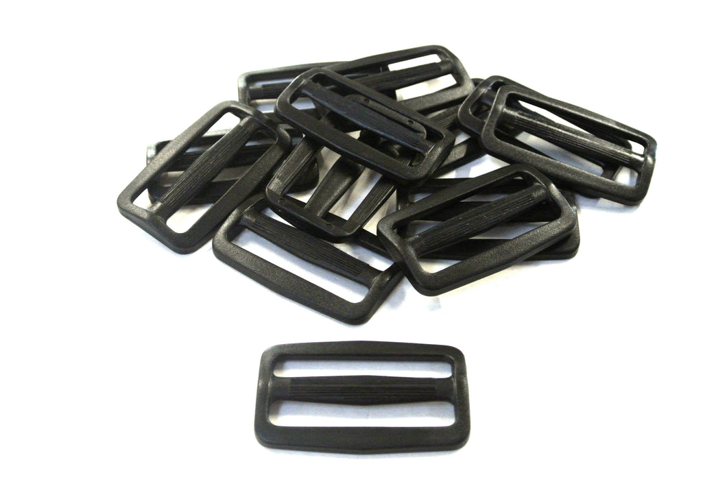 50mm Black Plastic 3 Bar Slides Triglides For Handles Straps Webbing Bags Crafts