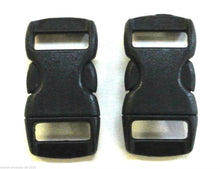 Load image into Gallery viewer, 10mm Black Plastic Curved Side-Release Buckles For Collars Bags Straps