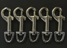 Load image into Gallery viewer, 6mm Trigger Clips/Hooks Nickel Plated For Dog Leads Webbing Bags Straps In Various Lengths