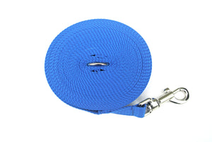 Dog training lead 15ft in royal blue