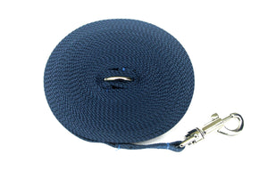 Dog training lead 30ft in navy