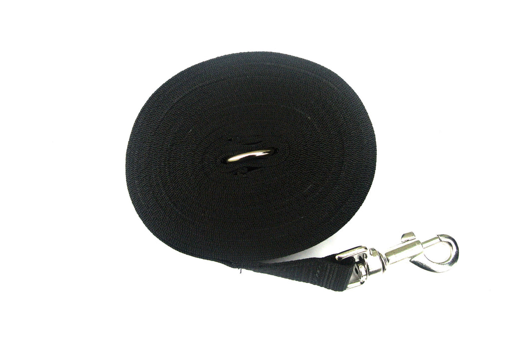 Dog training lead 15ft in black