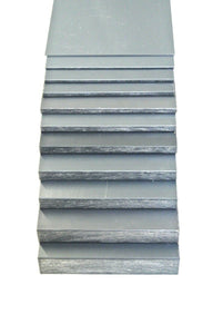 Grey PVC Flat Engineering Plastic Sheet 1.5mm-20mm Thick Various Lengths