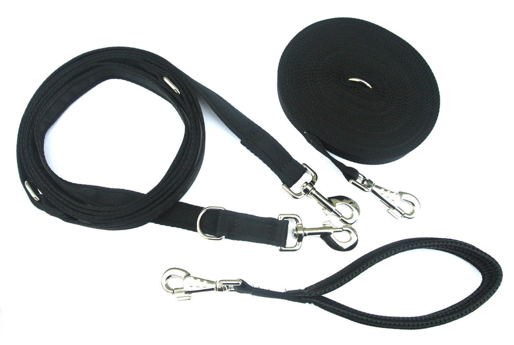 Dog Training Lead Set - 50ft Training Lead - 11ft Police Style Lead - 13