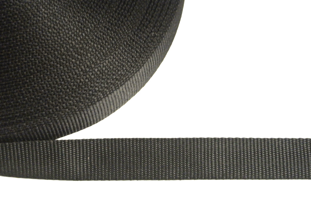 32mm Webbing In Black In Various Sizes
