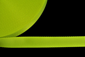 25mm Polyester Webbing Fluorescent Yellow