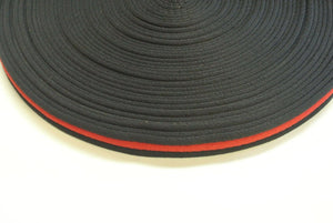 20mm Polyester Air Webbing In Black and Red And Various Lengths