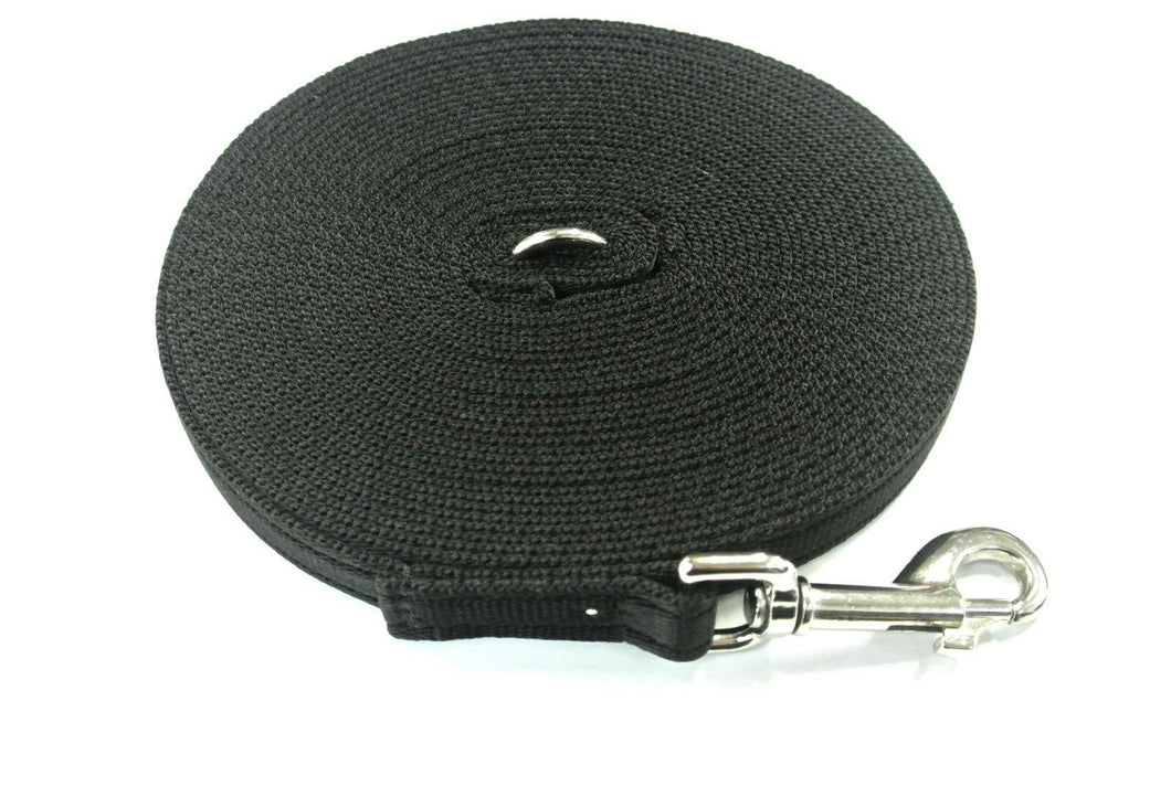 5ft-50ft Dog Training Lead In Black