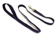"Load image into Gallery viewer, 45"" Dog lead in Black and Purple"
