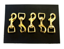 Load image into Gallery viewer, 16mm 20mm 25mm Heavy Duty Solid Brass Trigger Clips Hooks Swivel x1 x5 x10