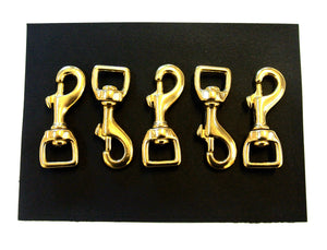 16mm 20mm 25mm Heavy Duty Solid Brass Trigger Clips Hooks Swivel x1 x5 x10