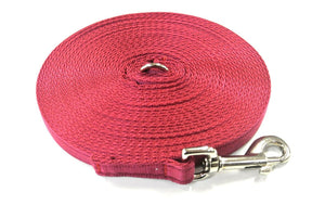 5ft-50ft Dog Training Lead In Burgundy