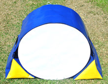 Load image into Gallery viewer, Dog Agility Tunnel Sandbags Adjustable In Blue And Yellow